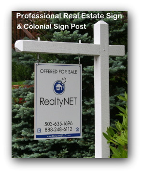 how to build a wood real estate sign post